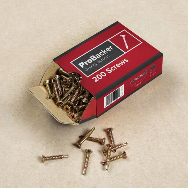 Pro Backer Screws 3.9 x 25mm - Box 200
