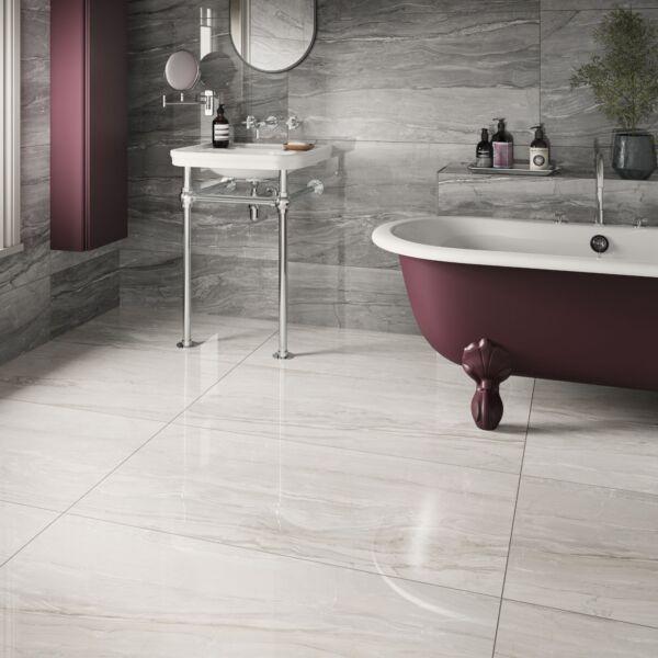 P11602 Eos Grey Glazed Porcelain Tile 600x1200mm