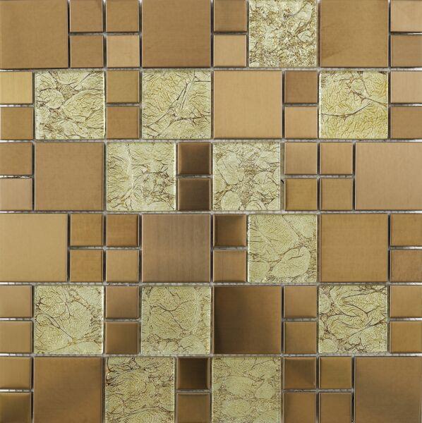 Copper Glass/Metal Mix Modular Mosaic
