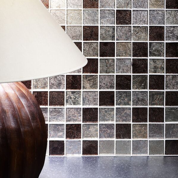 Taunton Leaf Glass Mosaic 48x48mm