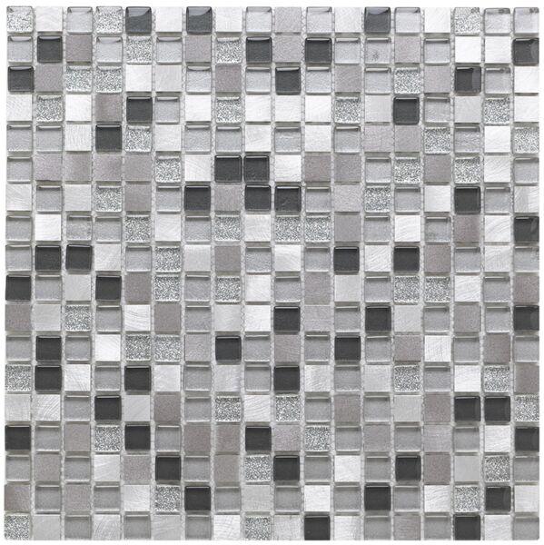 Platinum 135 Glass/Metal Mix Mosaic 15x15mm