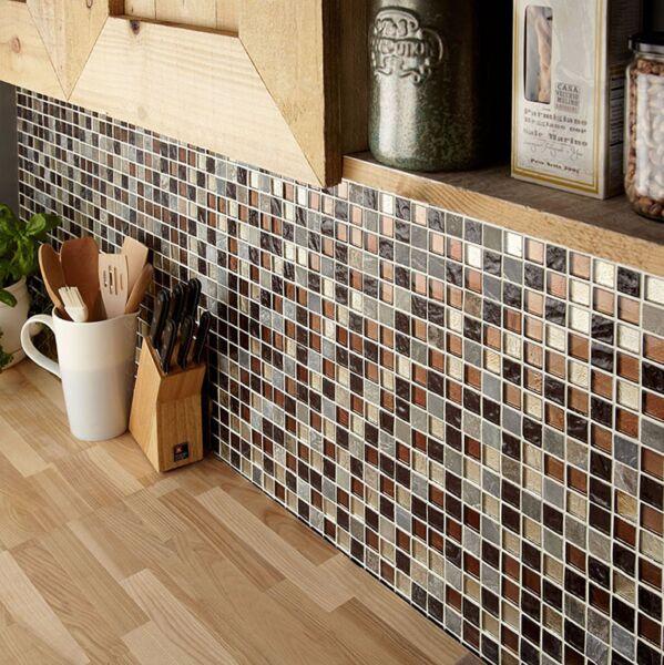 Cascade Glass & Stone Mix Mosaic 25x25mm