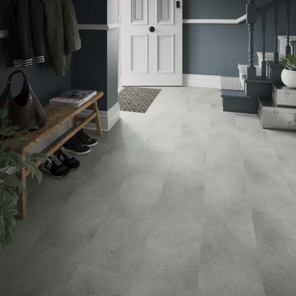 L10016 Axia Concrete Grey 305x610mm SPC Laminate Flooring