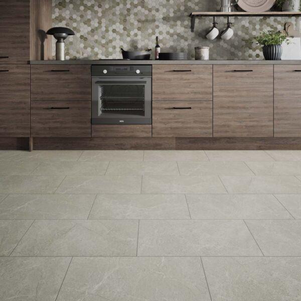 L10018 ClickLux Chamonix Marble Beige SPC Flooring