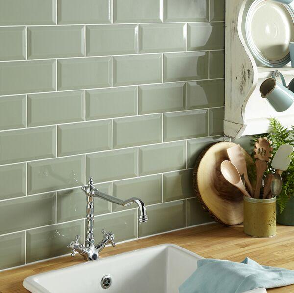 Metro Sage Ceramic Wall 100x200mm