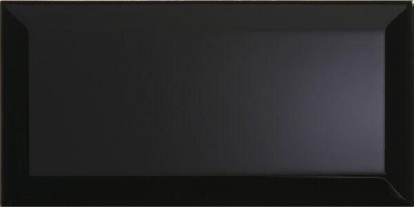 Metro Black Wall Tile 100x200mm