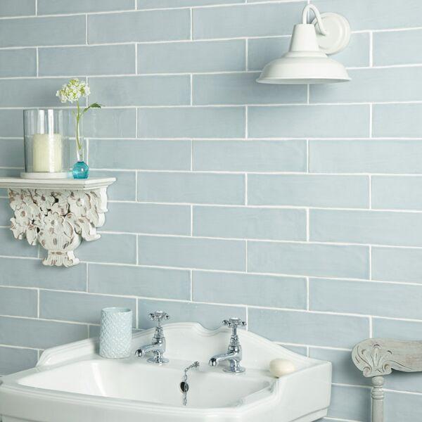 Handmade Duck Egg Ceramic Wall 75x300mm