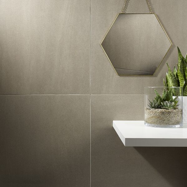 Art Rock Taupe Glazed Porcelain W&F 600x600mm