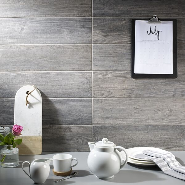 Dalby Grey Oak Glazed Porcelain W&F 600x150mm