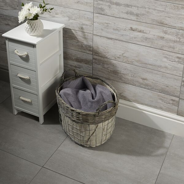 Acadia Bone Glazed Porcelain W&F 600x150mm