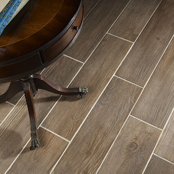 Delamere Walnut Glazed Porcelain W&F 600x150mm