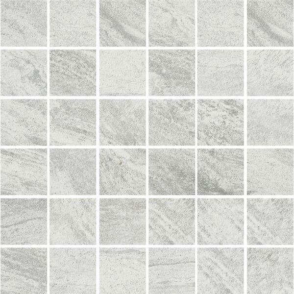 Valstein Light Grey (Weiss) Porcelain Mosaic 50x50mm