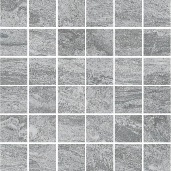 Valstein Dark Grey (Kohle) Porcelain Mosaic 50x50mm