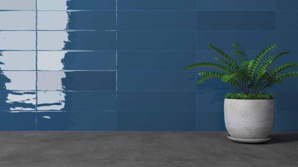 Crafted Gradient Plain Denim Wall 75x300mm