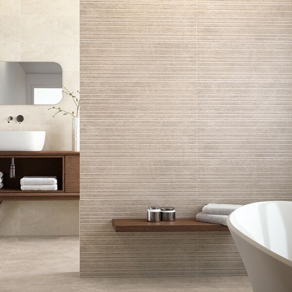 Pueblo Taupe Decor Ceramic Wall 300x900mm