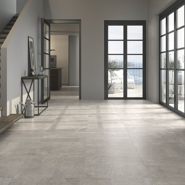 Mica Grey Glazed Porcelain Floor 600x600mm