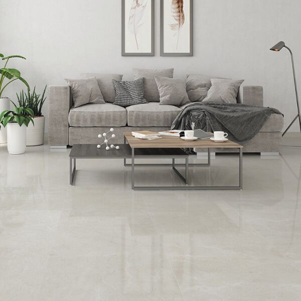 Petra Pearl Glazed Ceramic Floor 600x600mm