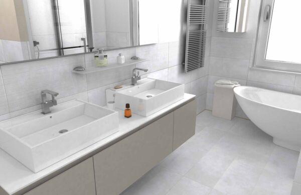 Loft White Glazed Porcelain W&F 304x610mm