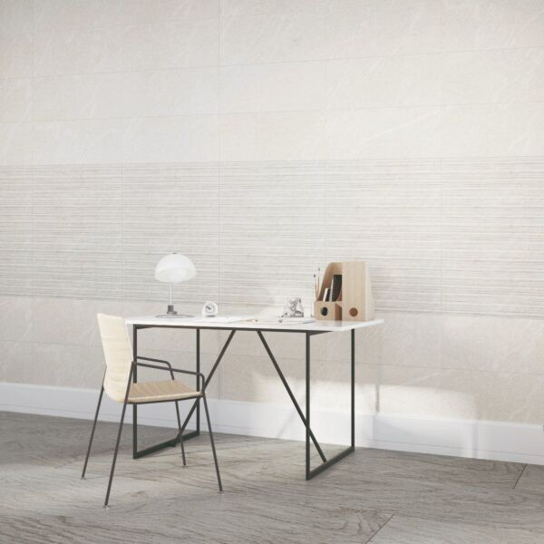 Hoxton Marfil Linear Glazed Porcelain W&F 300x600mm