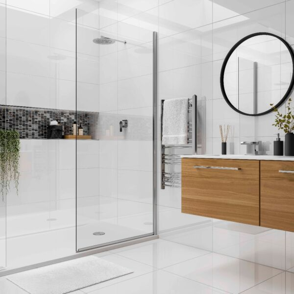 Space White polished porcelain tiles