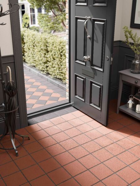 Black Quarry Tile Wall & Floor 200x200mm