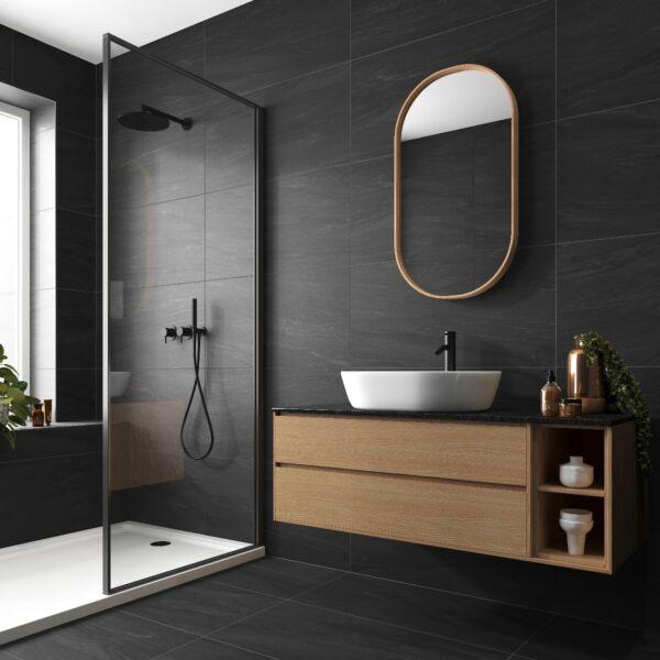Valmalenco Black Glazed Matt Porcelain W&F 450x900mm