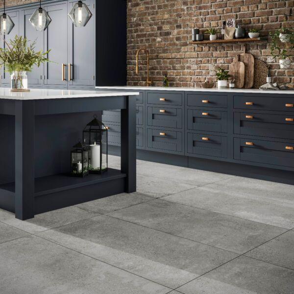 Stone Cement Grey Glazed Matt Porcelain W&F 615x1210mm
