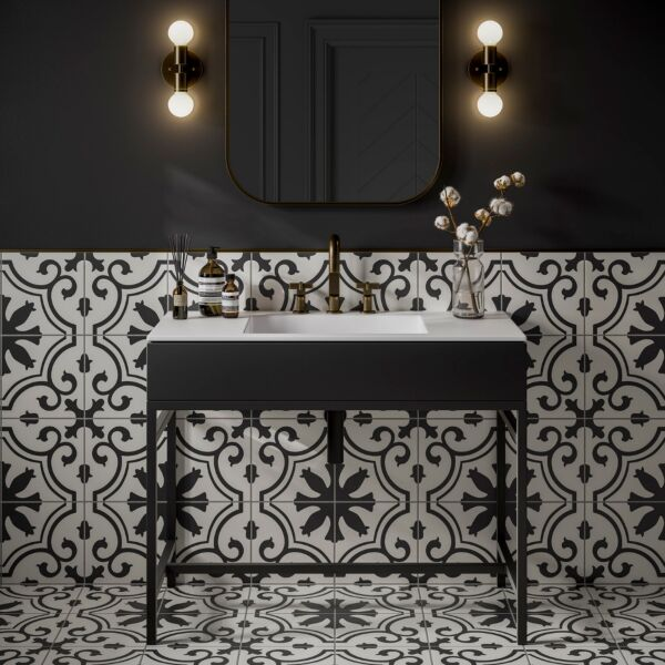 Goya Patterned Glazed Ceramic Wall & Floor Tile 250x250mm