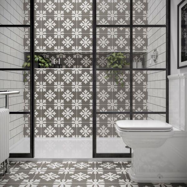 Dali Patterned Glazed Ceramic Wall & Floor Tile 250x250mm