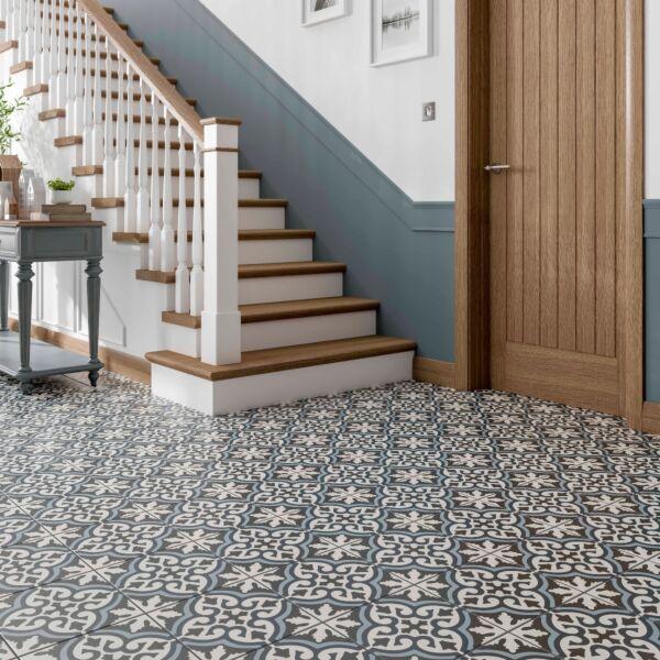 Miro Patterned Glazed Ceramic Wall & Floor Tile 250x250mm
