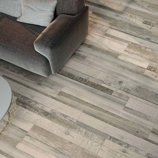Darwin Grey Glazed Porcelain Wood Effect W&F 200x1140mm