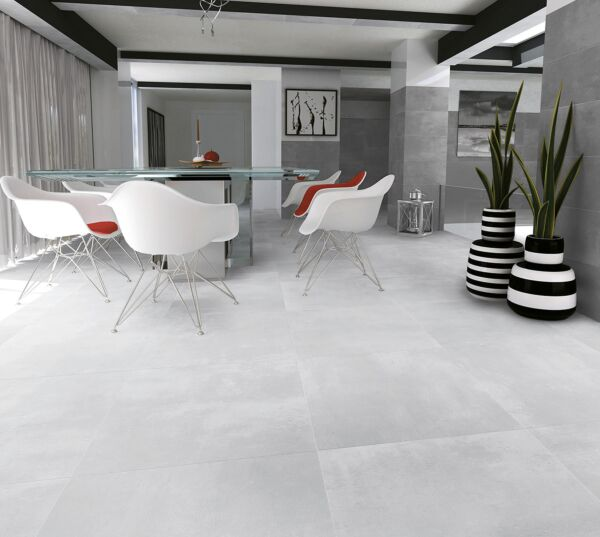 Loft White Glazed Porcelain 900x900