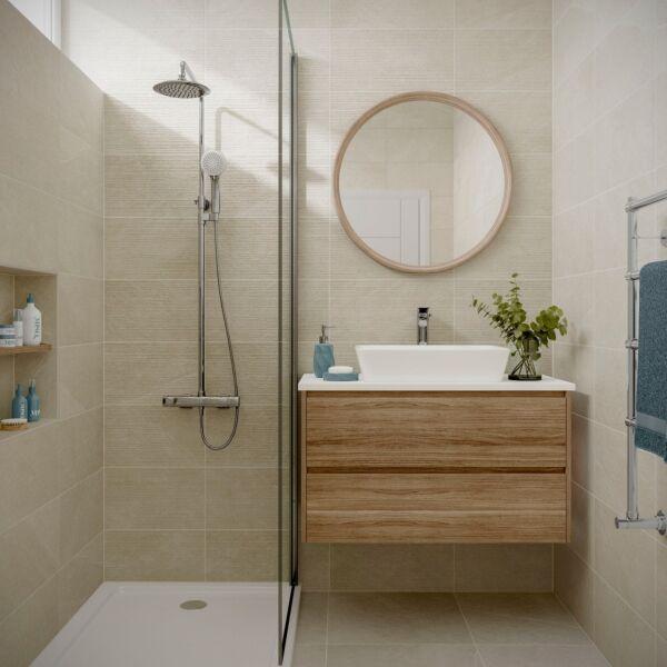 Ingleton Cream Matt 250x500mm Ceramic Wall Tile