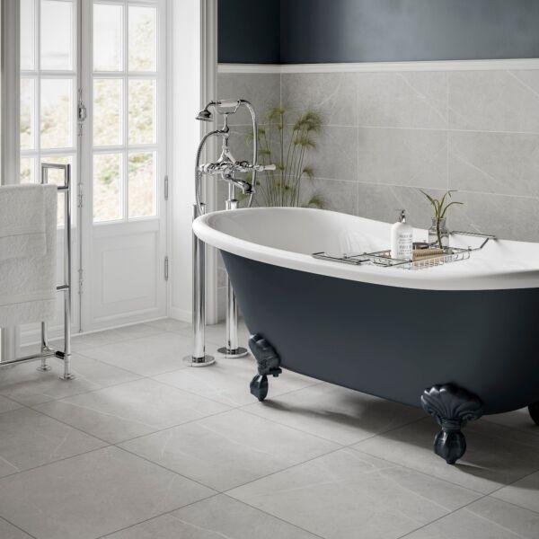 Penshaw Pearl Matt 500x500mm Porcelain Wall & Floor Tile