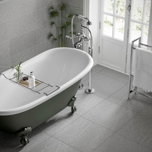 Penshaw Grey Matt 500x500mm Porcelain Wall & Floor Tile