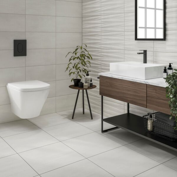 Tresco White Matt 500x500mm Porcelain Wall & Floor Tile