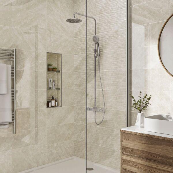 Skye Ivory Gloss 250x500mm Ceramic Wall Tile