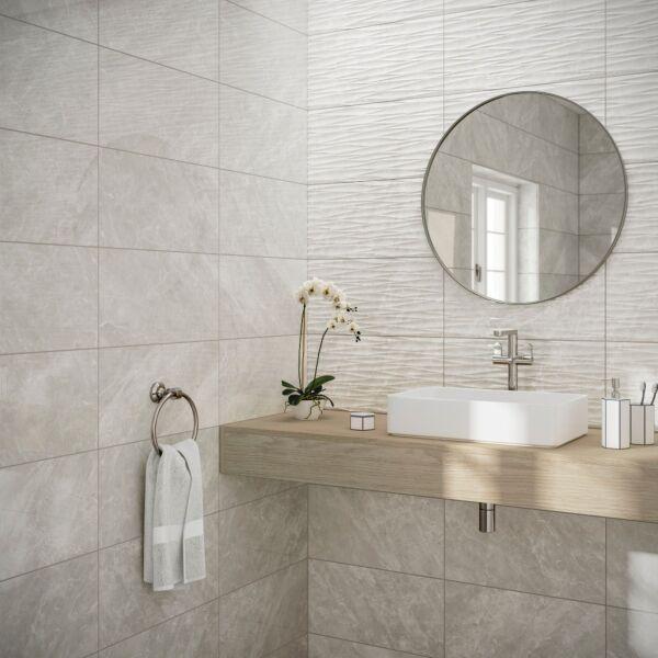 Skye Grey Gloss 250x500mm Ceramic Wall Tile