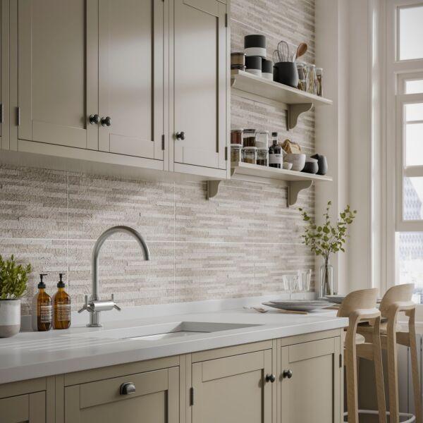 Snowdon Silver Matt 250x500mm Ceramic Structured Décor Wall Tile