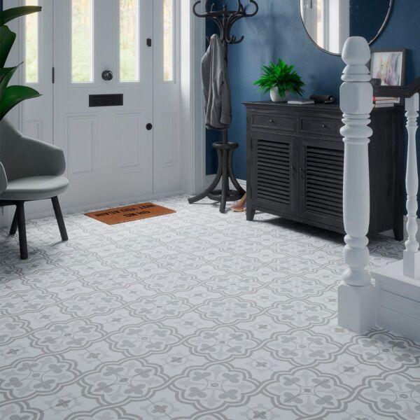 Morales Grey Porcelain Wall & Floor Tile 450x450mm