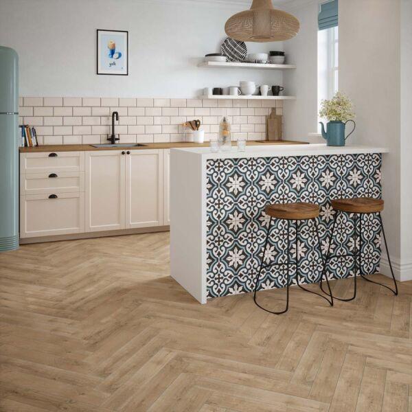 P11056 Daintree Oak Matt Porcelain Tile 98x593mm