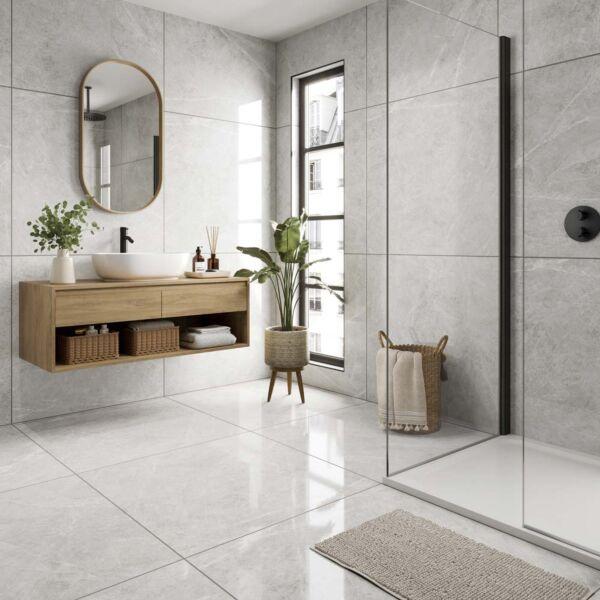 P11436 Allegra Pearl Polished Glazed Porcelain Tile 900x900mm
