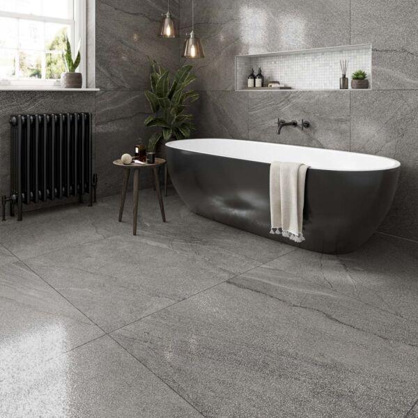 P11439 Frontera Silver Glazed Porcelain Tile 900x900mm