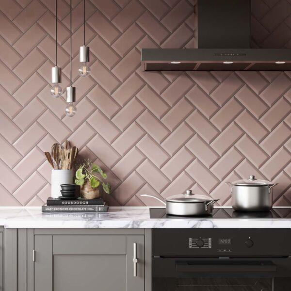 P11535 Metro Pink Ceramic Wall 100x200mm