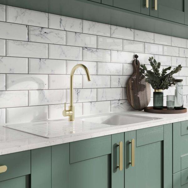P11544 Metro Calacatta Ceramic Wall Tile 100x300mm