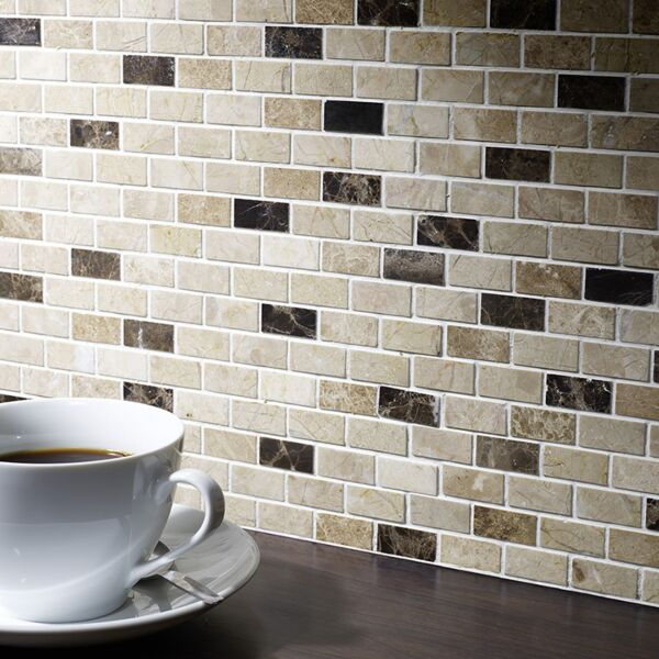 Expresso Polished Marble Mosaic 15x32mm