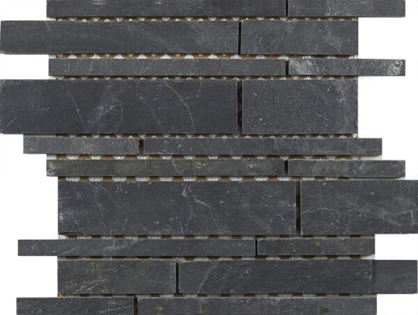 Linear Black Slate Mosaic 350x260mm