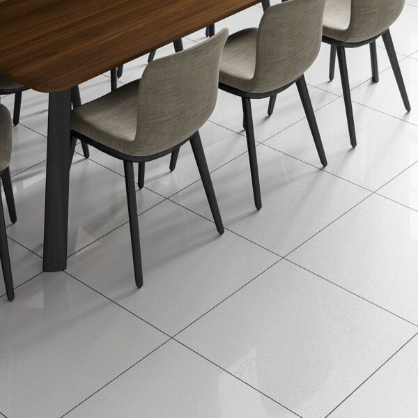Sugar White Glazed Porcelain Wall & Floor Tile 600x600mm