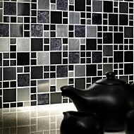 Metallic Glass/Metal Mix Modular Mosaic