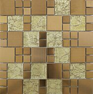 Copper Glass/Metal Mix Modular Mosaic